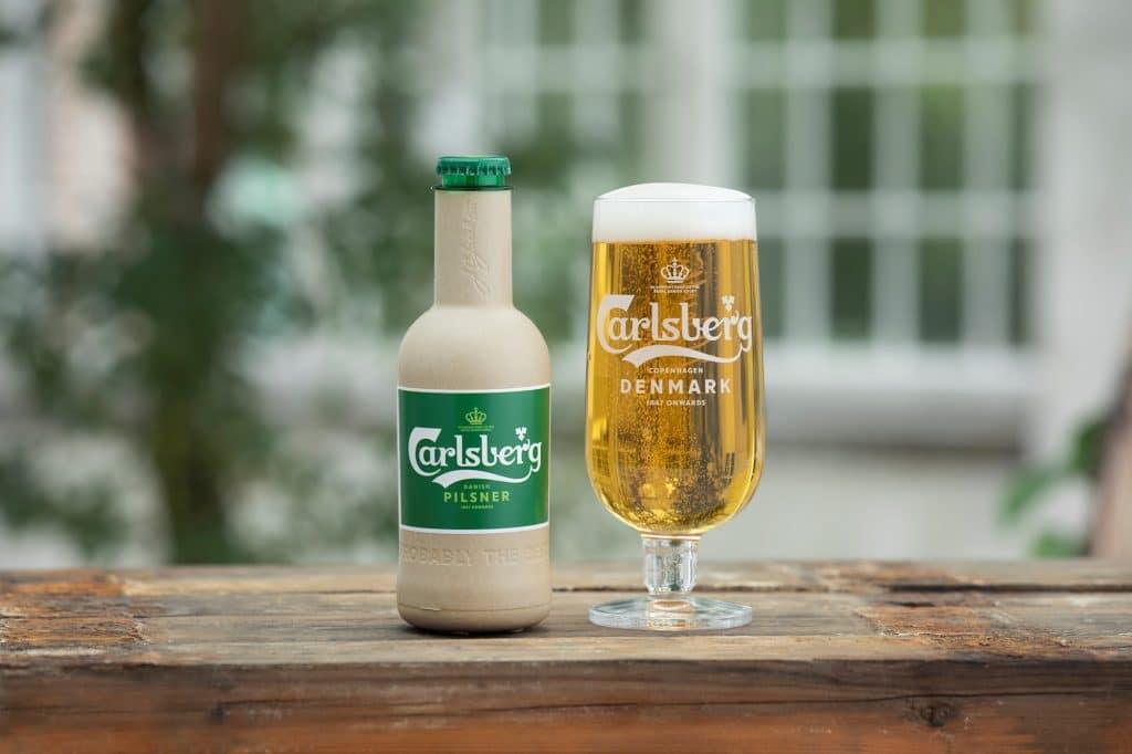 garrafa de cerveja reciclada