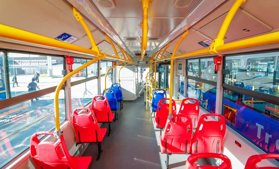 interior onibus eletrico