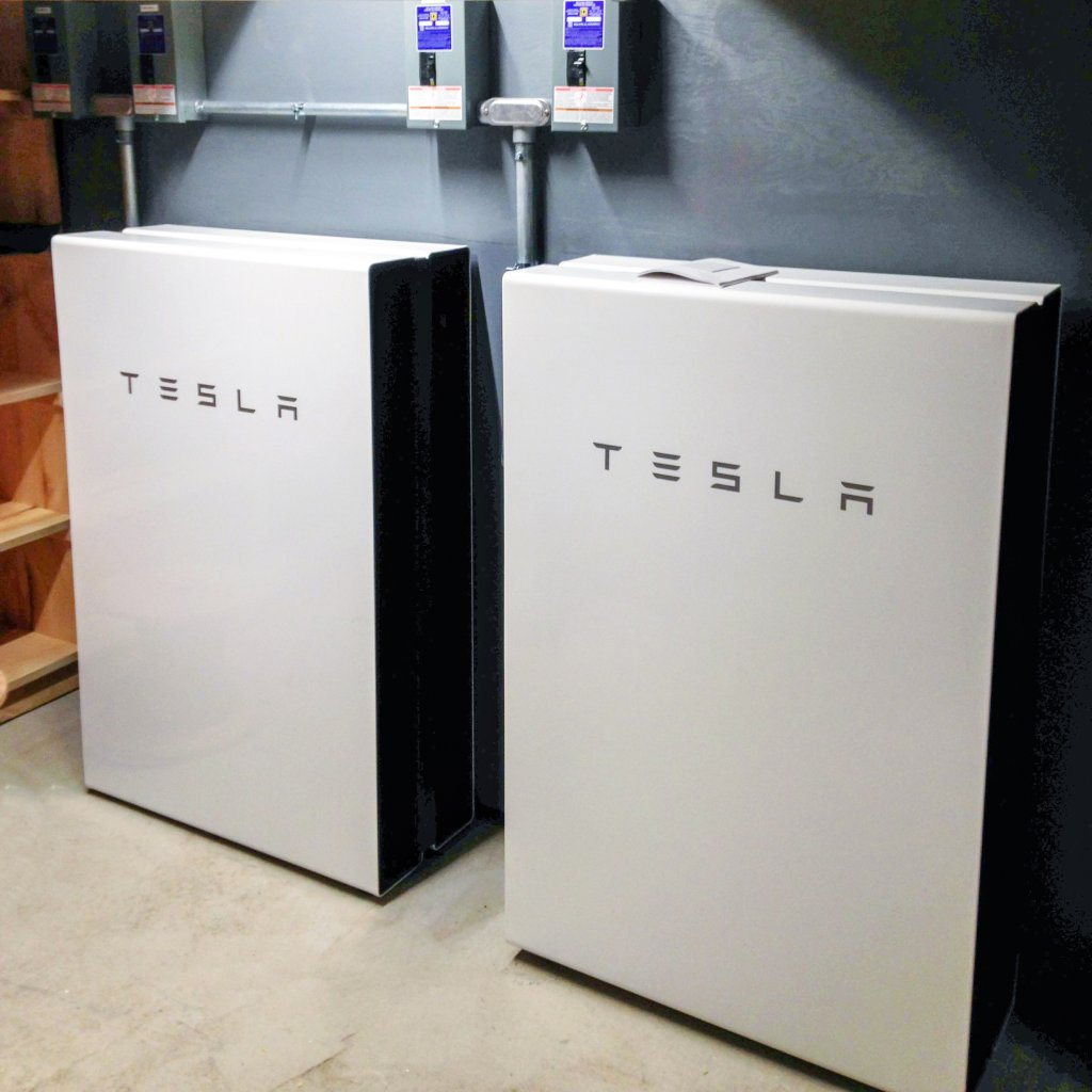 4 tesla powerwalls installed by revision