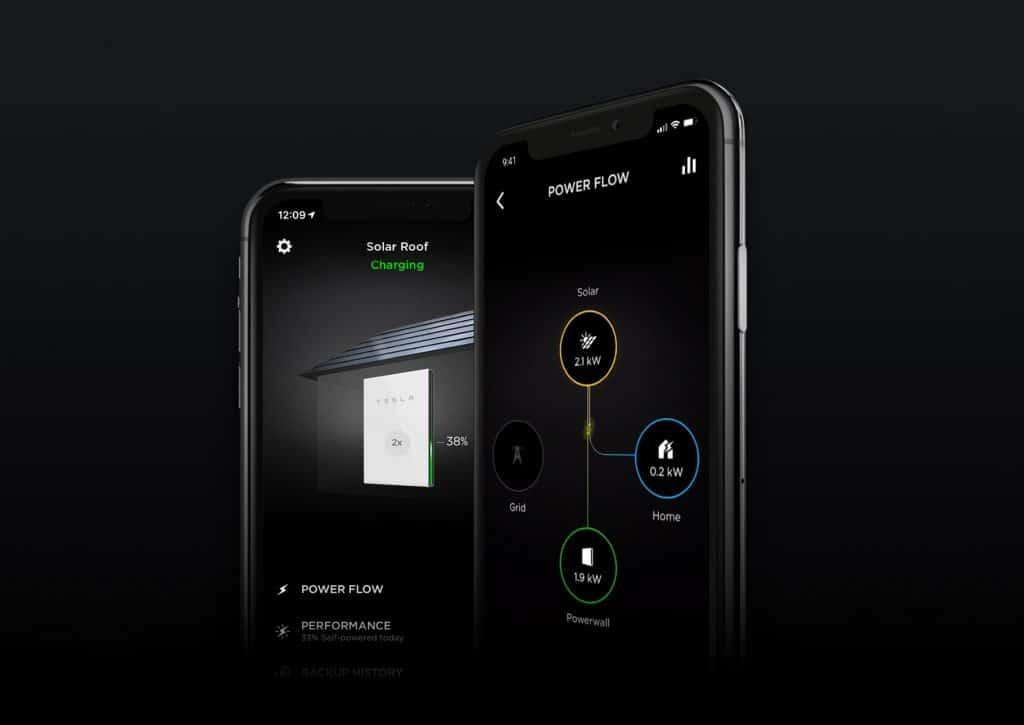 Interface do aplicativo para controle de energia do inversor solar da Tesla. (Divulgação/Tesla)