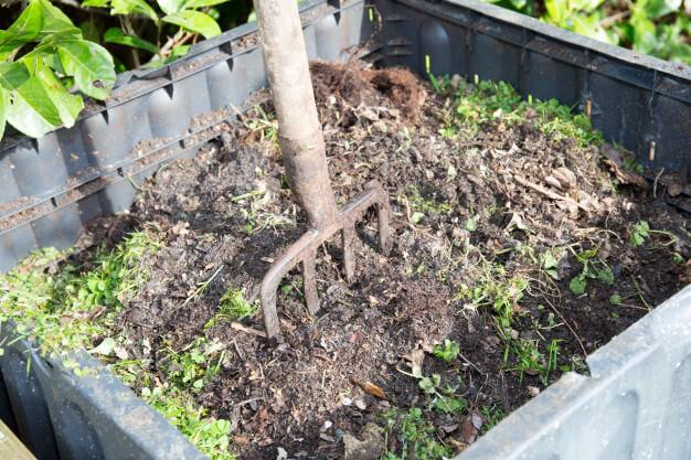 pilha de compostagem